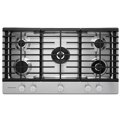 Bon Kitchen Aid KCGS556ESS KCGS556ESS 36 Stainless 5 Burner Gas Cooktop