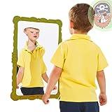 Miroir déformant de jeu pour enfants 58 x 38 cm Coloris vert de Gartenpirat®
