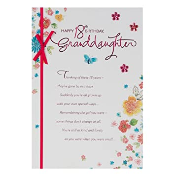 Hallmark 18th Birthday Card For Granddaughter Love And Laughter