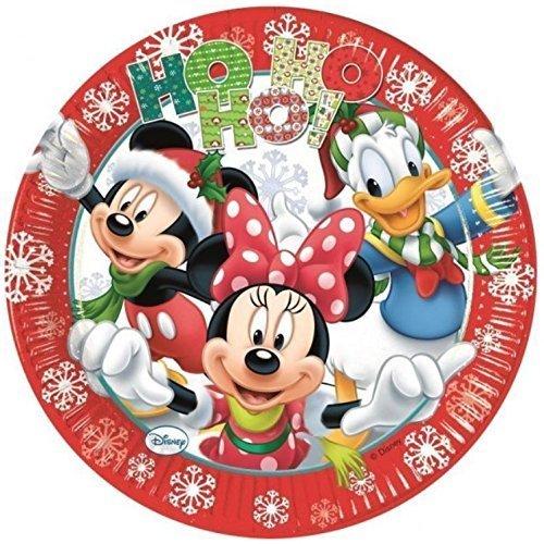 Procos Mickey Xmas Ho Ho Ho! Party Plates Diameter 23 CM by Mickey Mouse