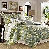 by Tommy Bahama Cuba Cabana 100% Cotton 6 Piece California King Comforter Set (Cal King Comforter, 2 Pillow Shams & Bedskirt + 2 Euro Shams)