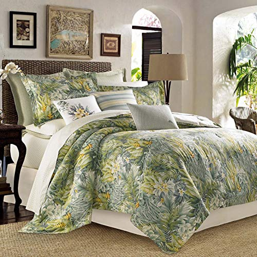 by Tommy Bahama Cuba Cabana 100% Cotton 8 Piece California King Comforter Set (Cal King Comforter, 2 Pillow Shams & Bedskirt + 2 Euro Shams & 2 Decorative Pillows ()