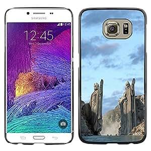 Caucho caso de Shell duro de la cubierta de accesorios de protección BY RAYDREAMMM - Samsung Galaxy S6 - Architecture Ancient Nord Viking Gods Fjords