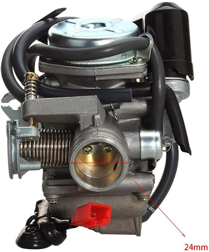 ATVs 110-150CC 4-Takt Vergaser 24mm Motorrad Vergaser Kit F/ür Moped ATV schwarz /& silber