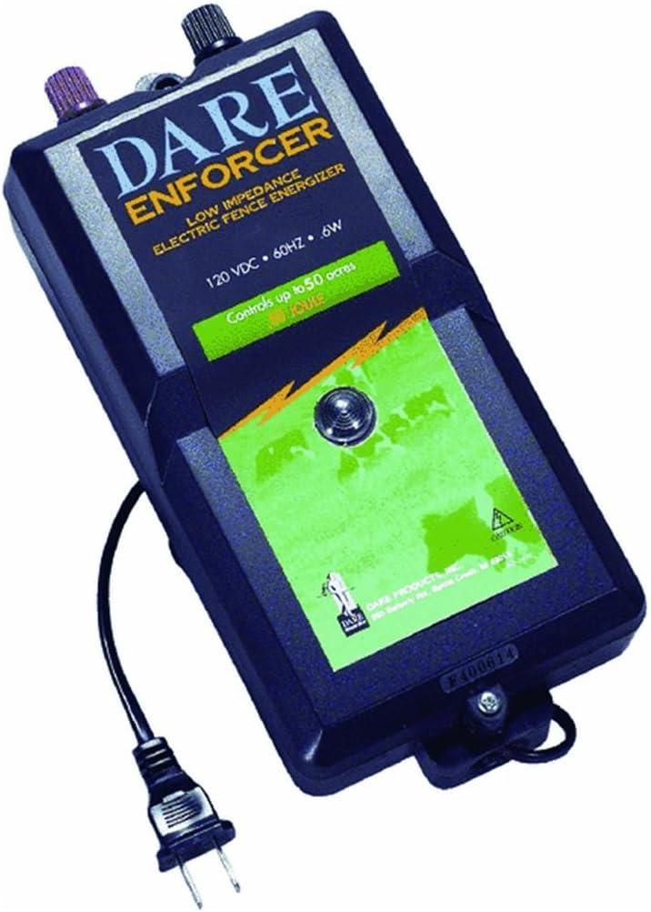 """Dare 110V Enforcer 5/"""" x 8-1//2/"""" x 10-4//5/"""" Electric Fence Fencer Charger DE600"""