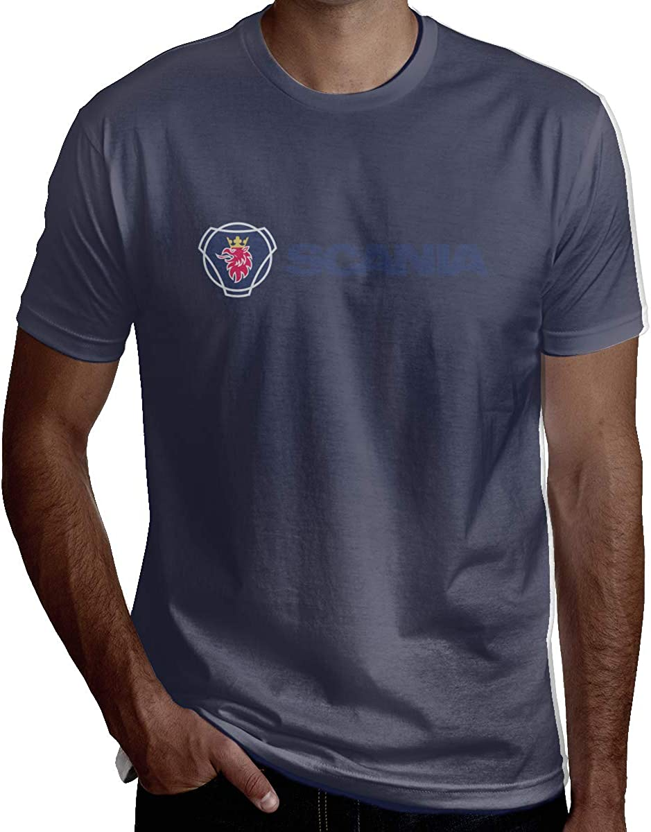 Design Scania Automobiles Logo Tshirts for Boyfriend Black