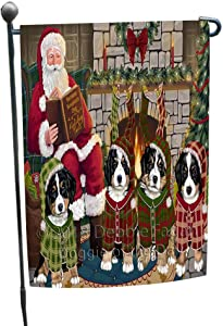 Christmas Cozy Holiday Tails Bernese Mountain Dogs Garden Flag GFLG55393