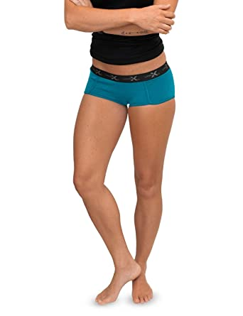 10ffdf7b65bd Woolx Women's Lila Lightweight & Durable Merino Wool Womens Boy Short  Underwear, Aqua, ...