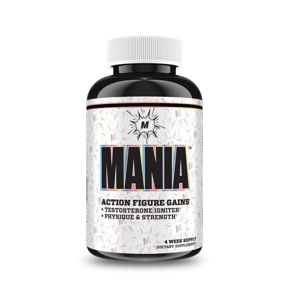 Myoblox Mania - Action Figure Gains - Testosterone Igniter - Physique & Strength - 56 Capsules