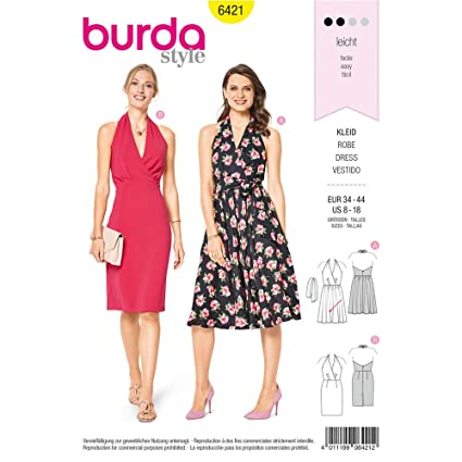 Amazon Burda Style Sewing Pattern B6421 Misses Swing Dresses