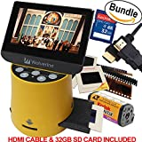 "Photo : Wolverine Titan 8-in-1 20MP High Resolution Film to Digital Converter with 4.3"" Screen and HDMI output, Worldwide Voltage 110V/240V AC Adapter, 32GB SD Card & 6ft HDMI Cable (Bundle)"