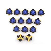 MamimamiH 16 PCS golf spikes Replacement Champ Spikes Stinger Scorpion Fast Twist TRI LOK For Foot Joy Blue