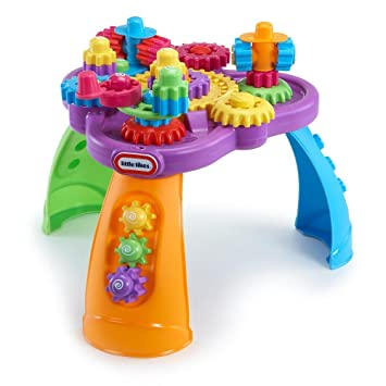 Amazon.com: Little Tikes Giggly Gears Twirl Table Playset: Toys ...