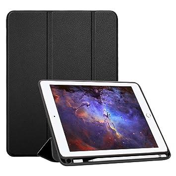 Fintie Funda para iPad 9.7 2018 con Soporte Incorporado de Apple Pencil - [SlimShell]