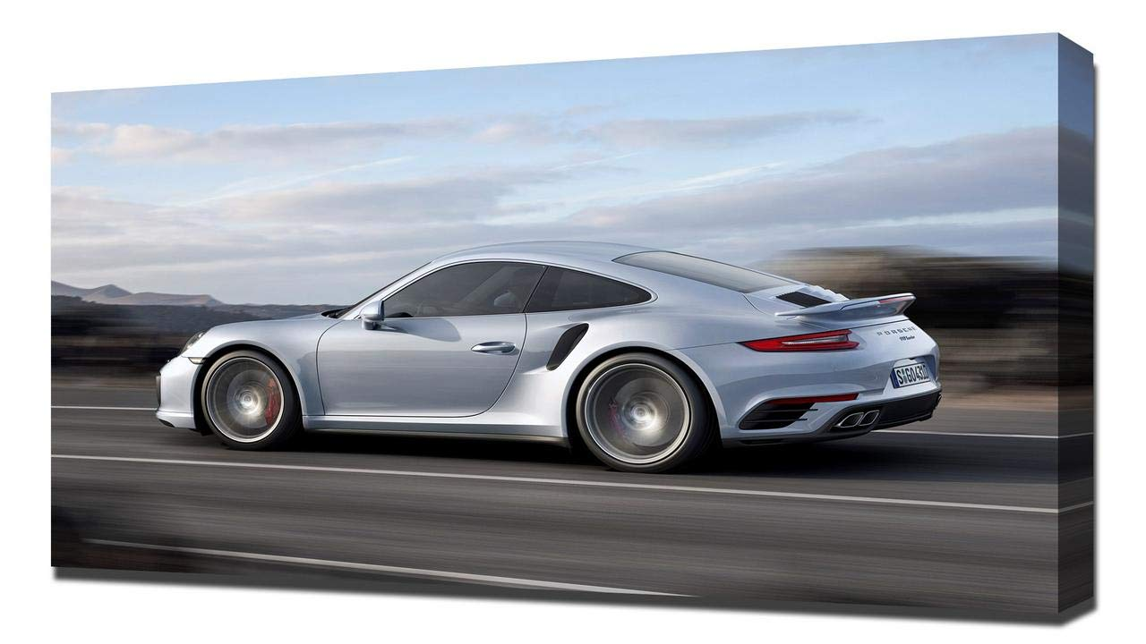 Amazon.com: Lilarama USA 2017 Porsche 911 Turbo S V7 - Canvas Art Print - Wall Art - Canvas Wrap: Posters & Prints