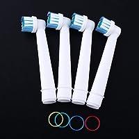 mazimark -- 4Pcs cabezales para cepillo para polvo de dientes eléctrico de repuesto para Braun Oral B Pro Precision Clean