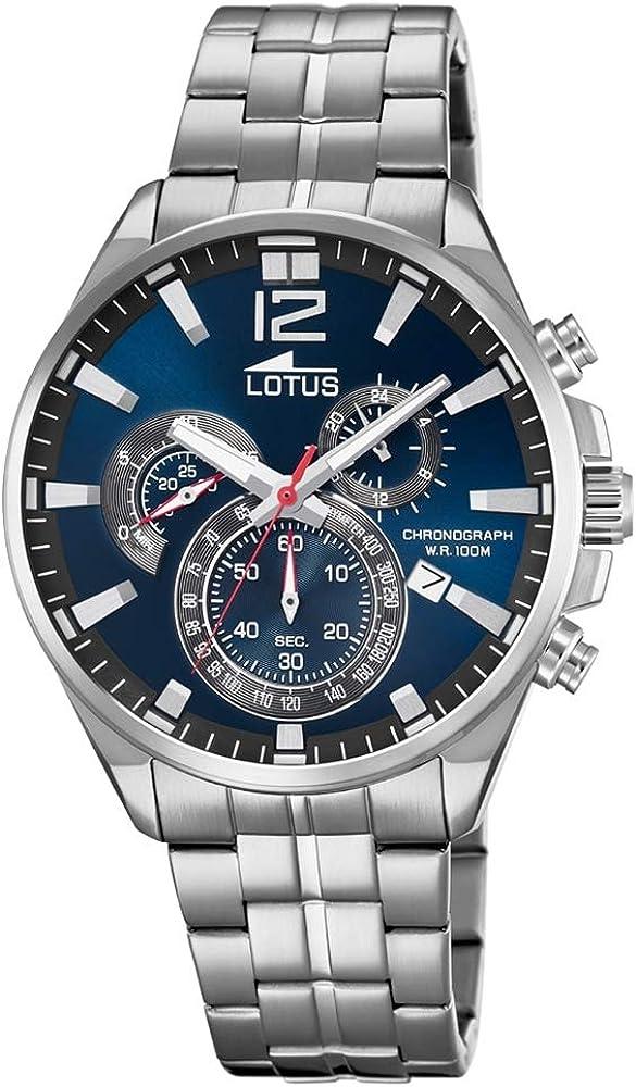 Lotus Reloj Cronógrafo para Hombre de Cuarzo con Correa en Acero Inoxidable 10136/3