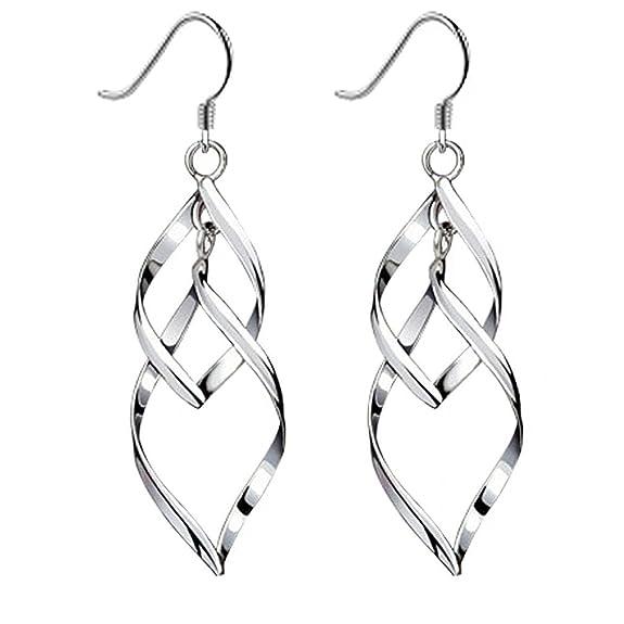 15 opinioni per Orecchini torsione, Isenretail S925 argento nappe drago orecchini donne per