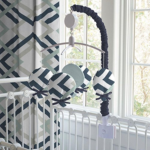 Carousel Designs Navy and Gray Geometric Mobile by Carousel Designs