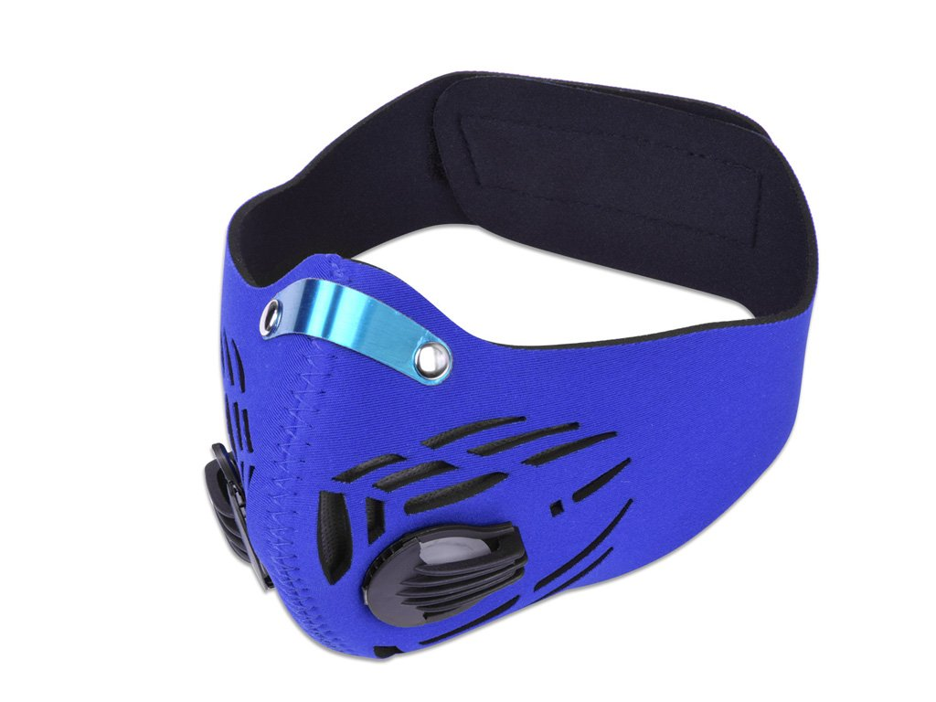 ULuckySee Dust Face Mask anti Woodworking Fume Pollen Chemical Paint PM2.5 Air Safety Filter for Outdoor Activities (Blue)