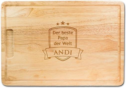 Vatertag Papa Männer Vater Schneidebrett Mann Bambus Geschenk Mann ...