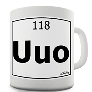 Amazon twisted envy periodic table of elements uuo ununoctium twisted envy periodic table of elements uuo ununoctium funny mugs for dad 15 oz urtaz Images