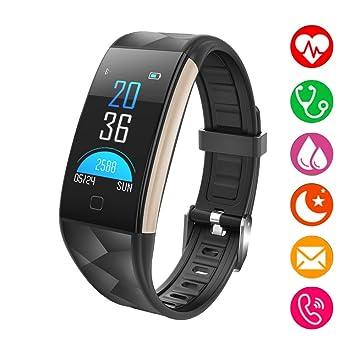 SHFY Fitness Tracker - Reloj con Monitor de frecuencia Cardíaca Bluetooth con Monitor de Sueño, Compatible con iPhone, Samsung, Android, para Adultos ...