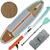DRIFT Inflatable Stand Up Paddle Board, SUP with Accessories   Pump, Lightweight Paddle, Fin & Backpack Travel Bag