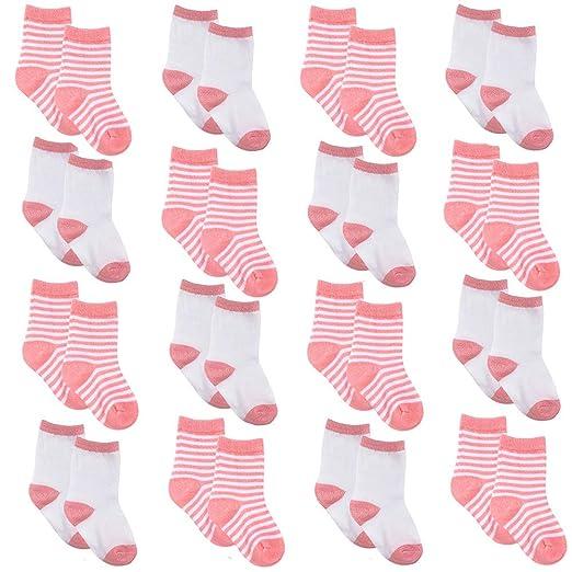 1dfbe0e3855d4 Toddler Socks - Cotton Toddler Socks for Boys Girls Baby Ankle Crew Socks  1-4 Years Old