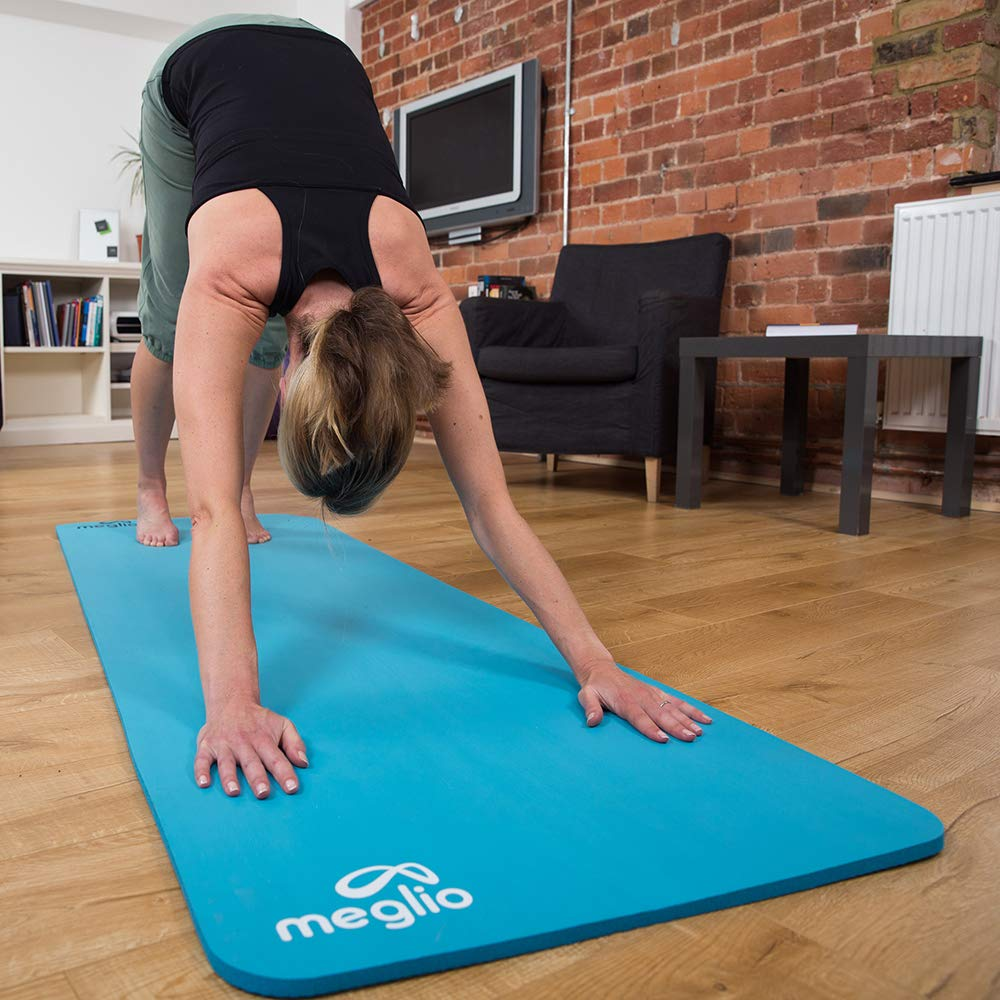Yoga Rutinas de Ejercicios Esterilla en NBR 12mm de Grosor para Todo Tipo de Ejercicio Meglio Esterilla de Yoga Antideslizante Incluye Arn/és de Transporte Pilates Fitness