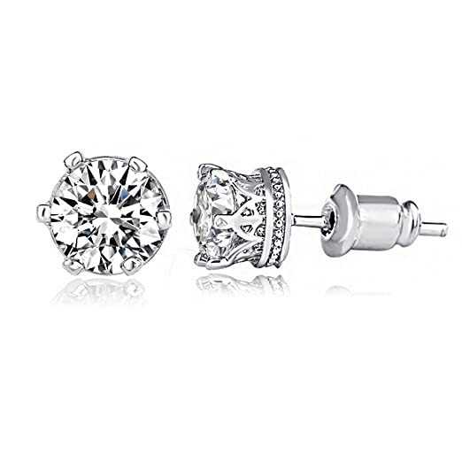 180c59be8 Amazon.com: UMODE Jewelry 6 Prongs Crown Design Clear Cubic Zirconia ...