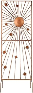 Grasslands Road Sunburst Trellis - Garden Trellis - Garden Décor, Metal, Acrylic, Resin, 47 3/4 by 18 1/8 Inches