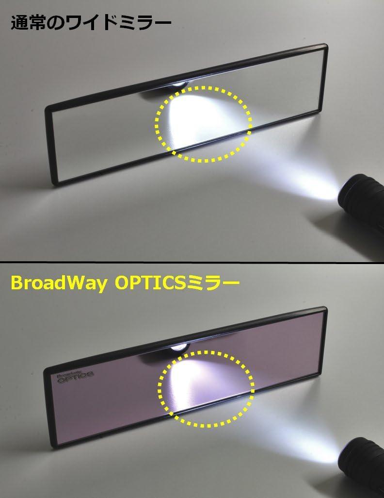 Genuine Napolex Broadway OPTICS Wide View Mirror Cuts Glare 270X65mm Convex BW-9