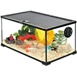 Casa del hámster Hamster Cage Glass Transparent Hamster House Kit Clear Breathable Small Animal Play Feeding Tank (Color : Clear, Size : 50 * 30 * 25cm)