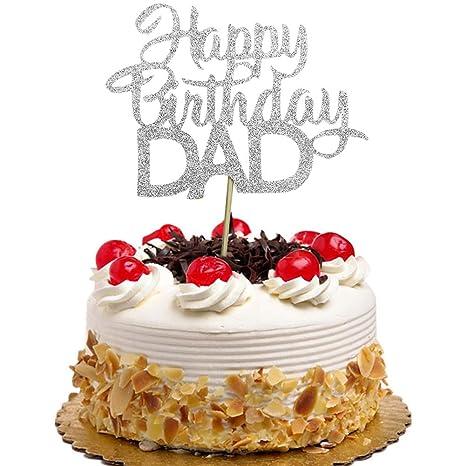 Amazon.com: Decoración para tartas de feliz cumpleaños, día ...