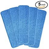 GARYOB Microfiber Spray Mop Replacement Heads Re-Up Compatible With Bona Floor Care System (5 Pack)
