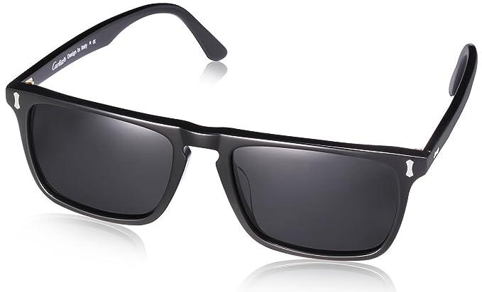 74158e0836ad Amazon.com  Carfia Vintage Polarized Sunglasses for Men