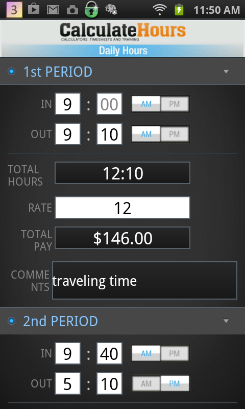 amazon com calculate work hours timesheet appstore for android