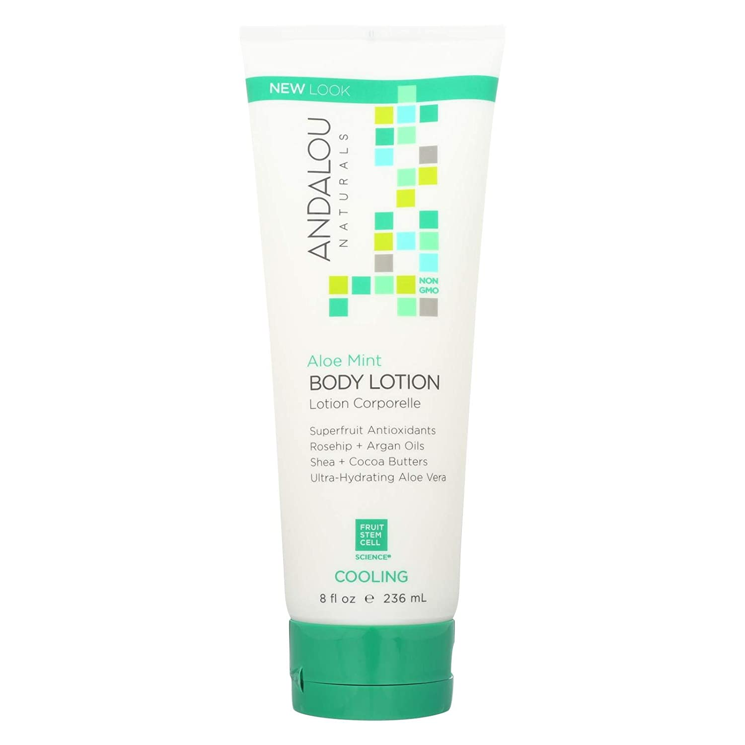 Andalou Naturals Body Lotion - Aloe Mint Cooling - 8 fl oz
