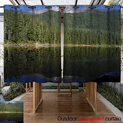 Outdoor Curtains for Patio Sheer Mt Jefferson Wilderness W84 x L72