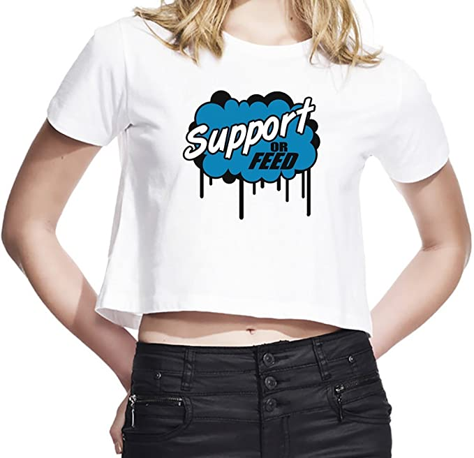 League of Legends Support or Feed Camiseta Corta Mujeres Large: Amazon.es: Ropa y accesorios
