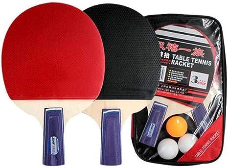 KUANDARPP Raqueta De Tenis De Mesa Ping Pong (Dos Raquetas + Tres ...