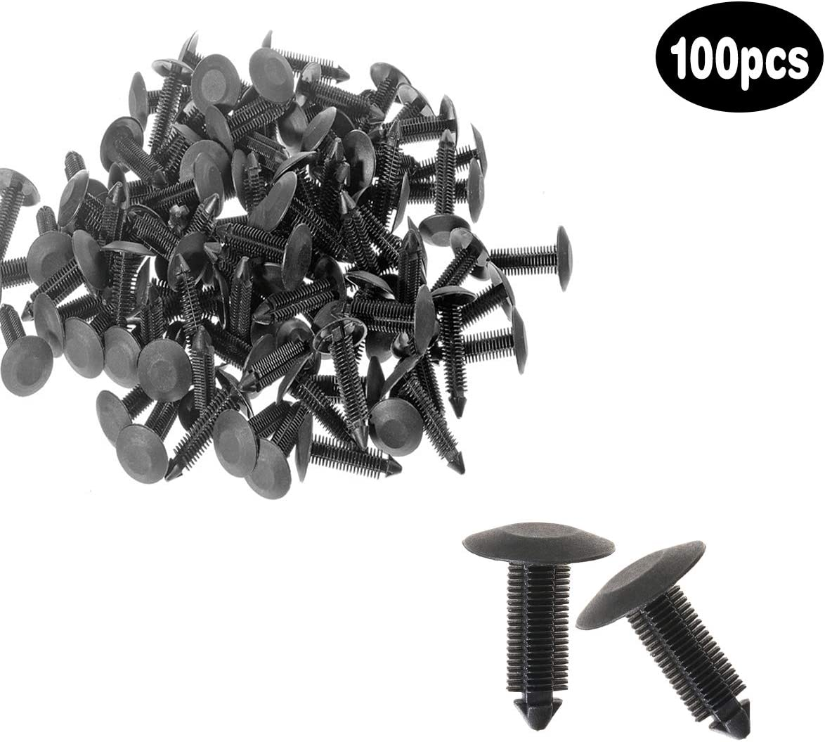 ZYHW Christmas Tree Fastener Rivet Clips Furniture Assembly Shelves Shield Retainer Plastic Nylon 7mm 100Pcs