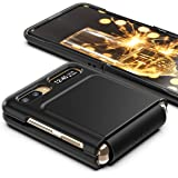 araree AERO Flex, Galaxy Z Flip/Z Flip 5G case, Hybrid case, Hinge Protective (TPU) with Hard Body case (PC) - Black