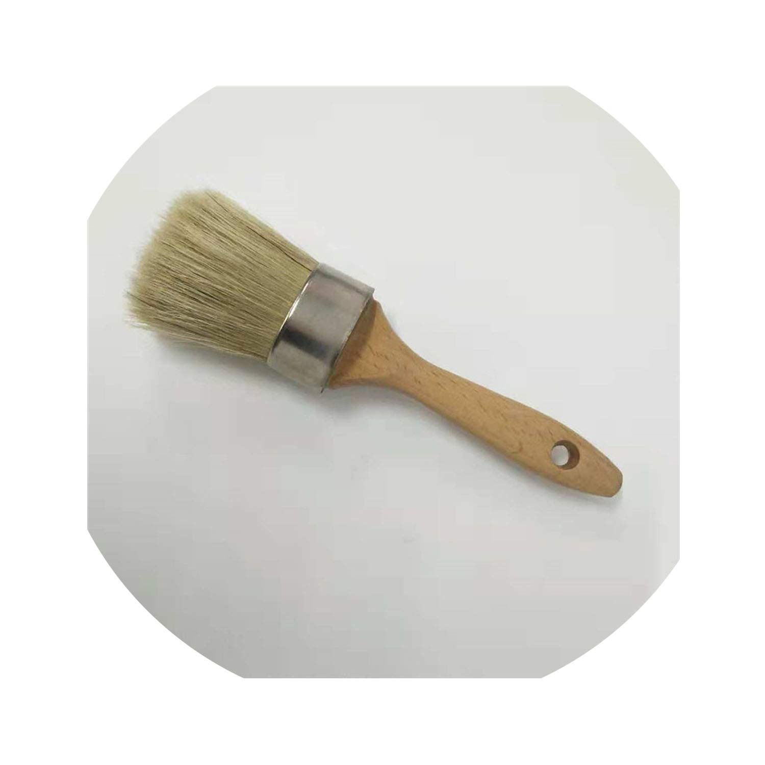 2 Inch Oval Chalk and Wax Paint Brush for Furniture Painting Waxing and Stenciling by O-lovey