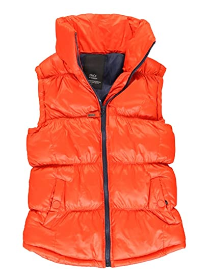 30701c09d53 Women's Vest Jacket Size S-XL Quilted Jacket in Down Look Size  36,38,40,42,44 Body Warmer Blue, Yellow, Red, Size S, M, L, XL - Red - UK  14: Amazon.co.uk: ...