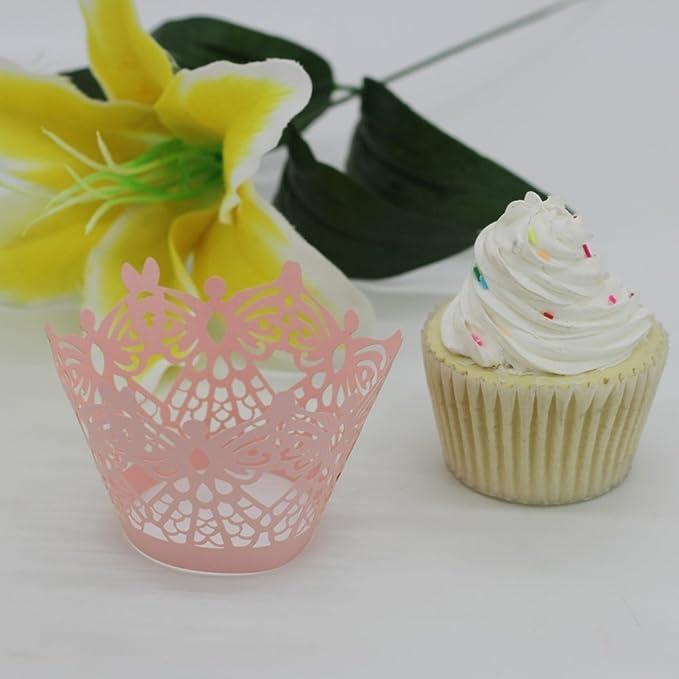 Ultnice Cupcakes Wrapper Papier Kuchen Verpackungen Kreuz Muffin
