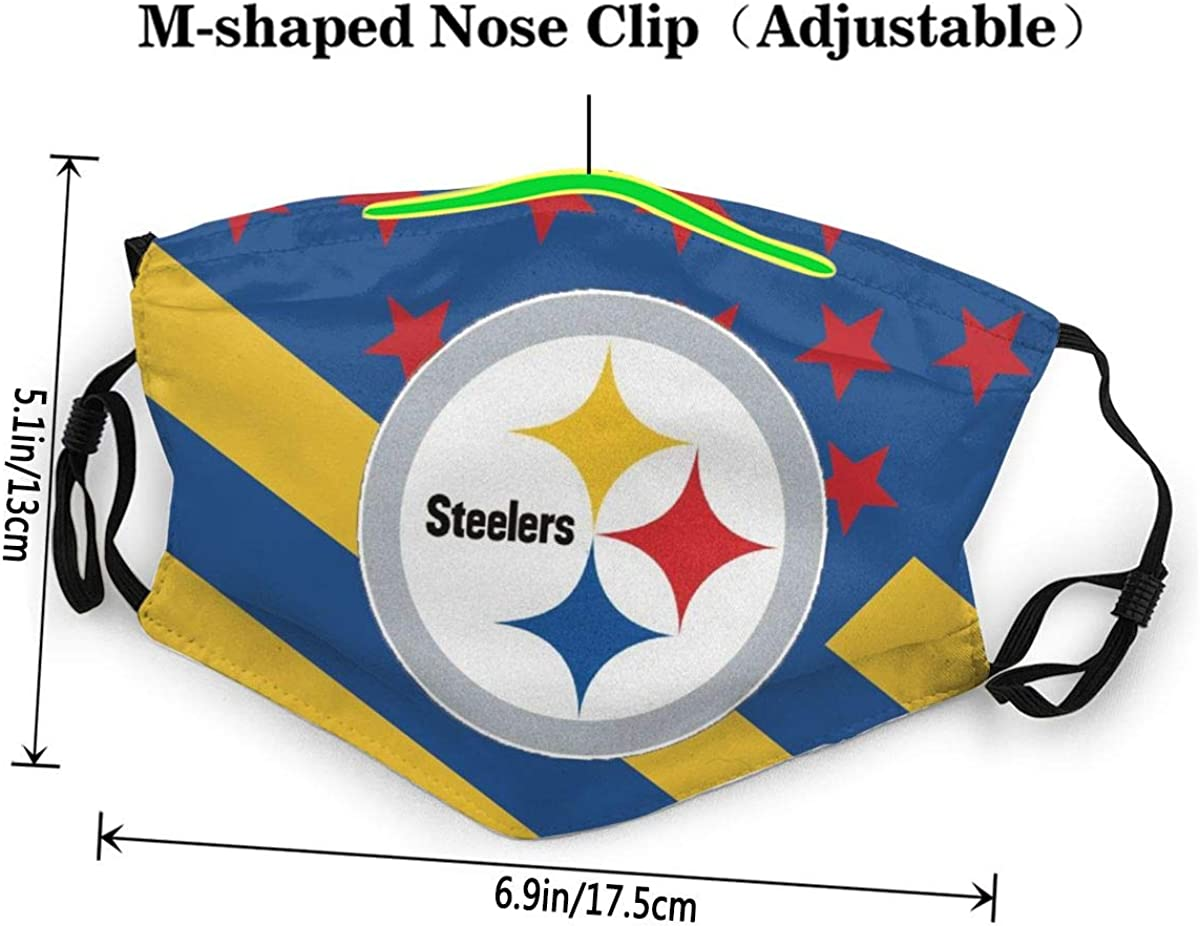 Rico Pittsburgh Steelers Child dust Veil Universal facecloth UV Present for Juvenile Agedness Mens and Womanhood