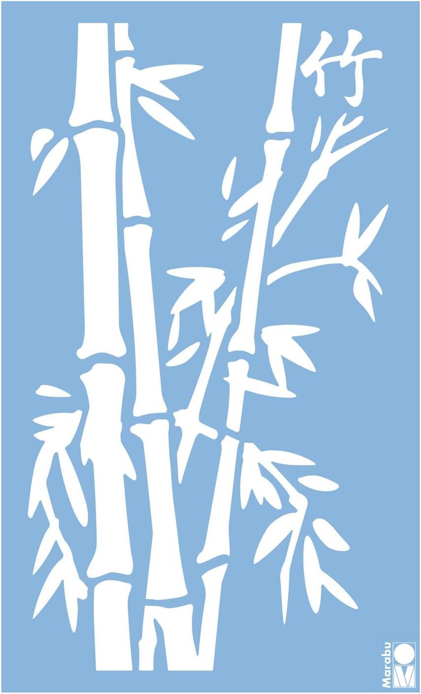 Marabu 0278000000001 Bamboo ca strapazierf/ähige Schablone zur Anwendung auf W/änden Schablone M/öbeln und Textilien lasergeschnittene PVC frei 40 x 66 cm wieder verwendbar