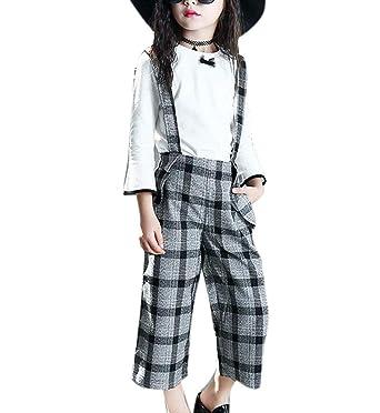 Traje De Tirantes para Niñas Traje para Niños Plaid Bow Tie ...